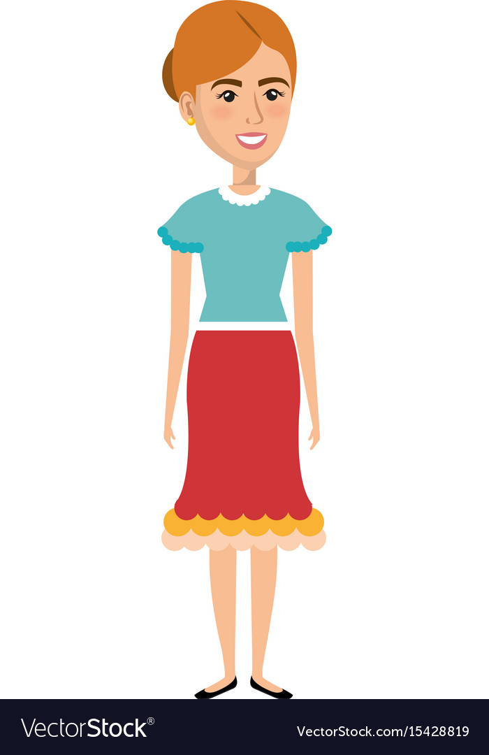 Woman In Farmer Costume Royalty Free Vector Image