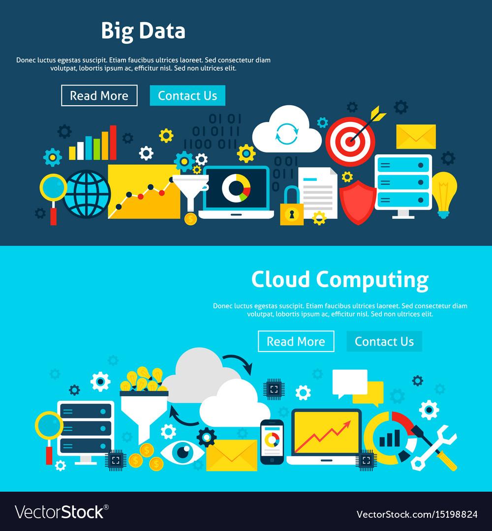 Big data analysis website banners