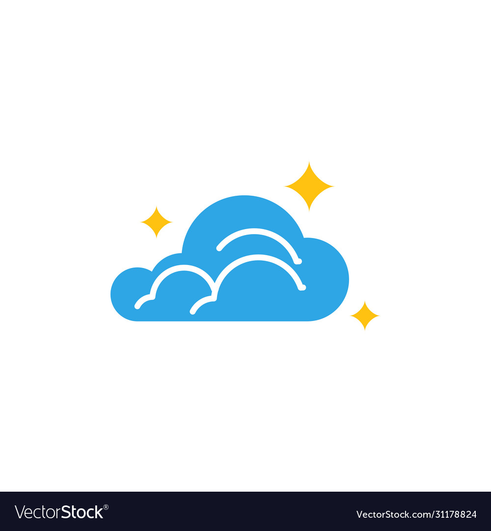 Cloud icon design template isolated