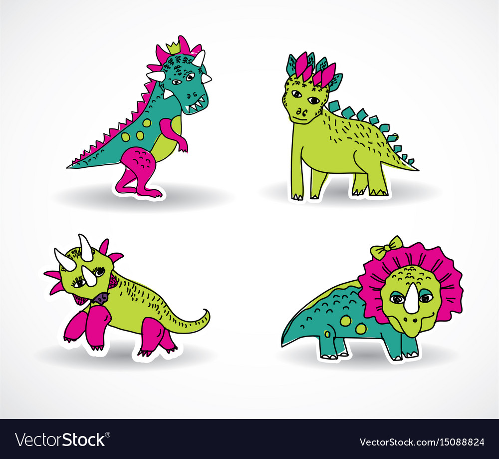 Dinosaurs objects shadow