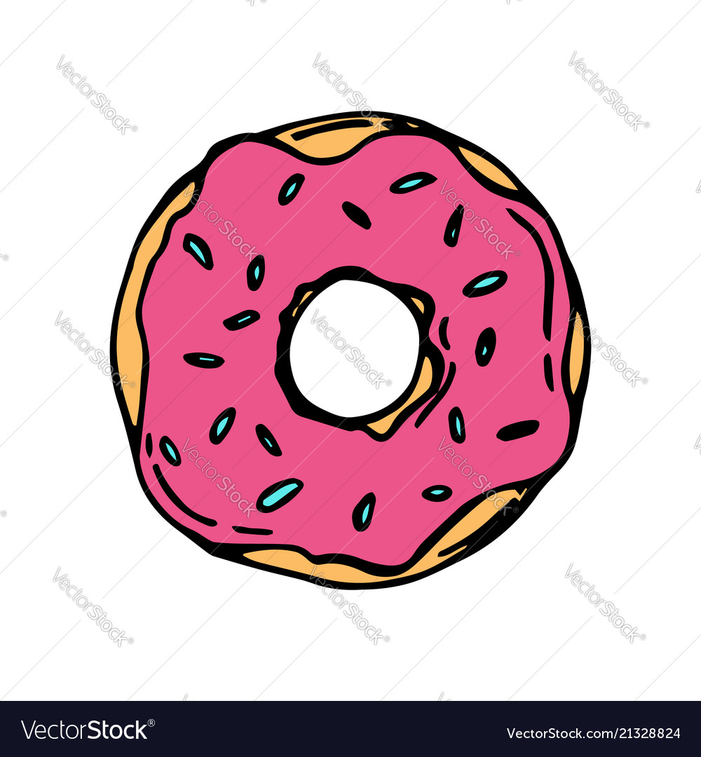 Donut icon for cafes restaurants coffee shops