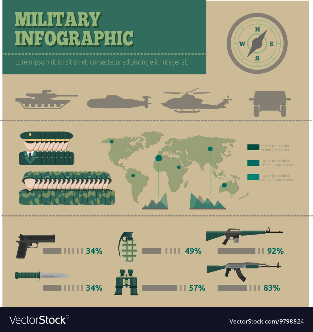 Flat Army Infographic