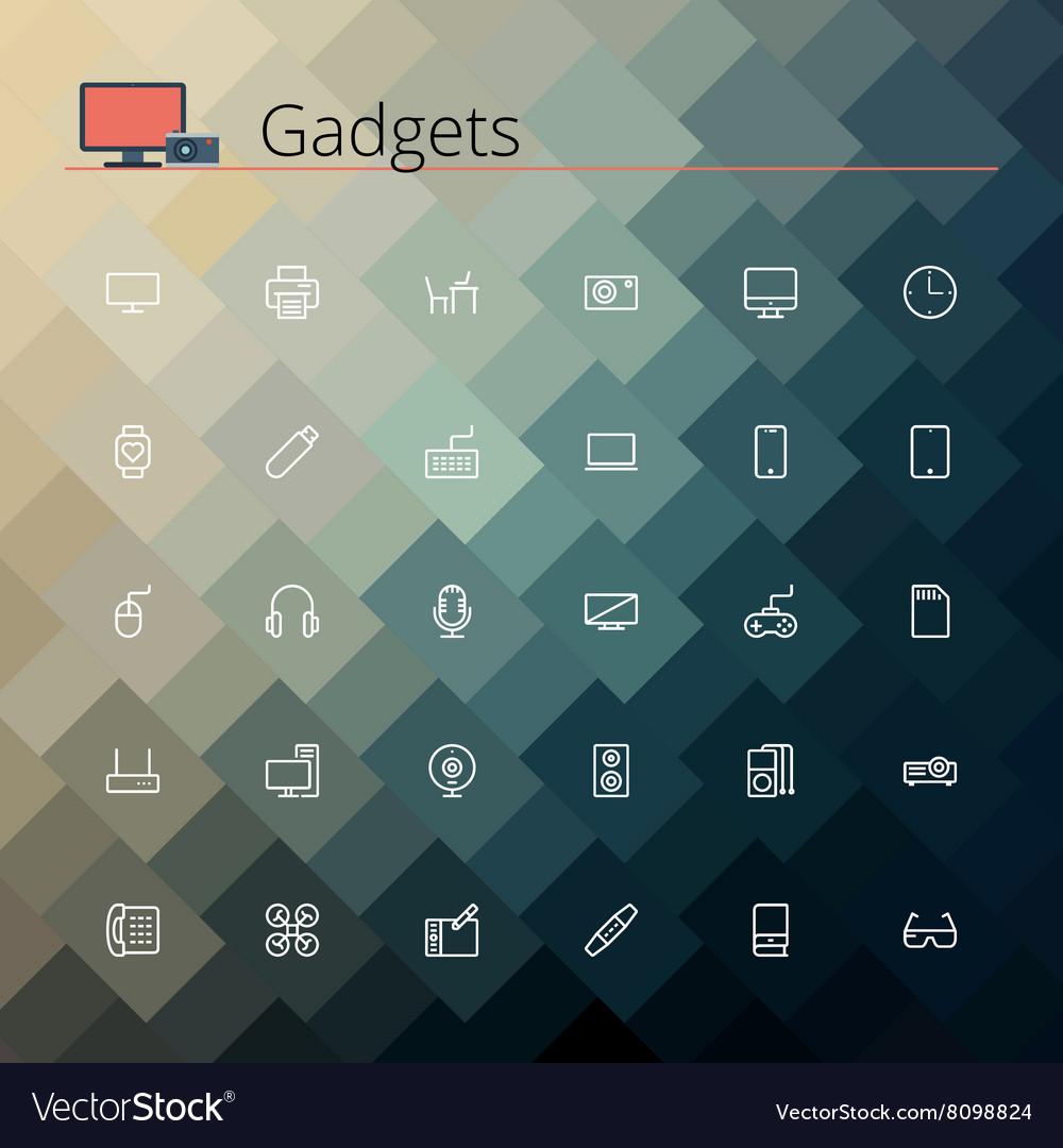 Gadgets Line Icons