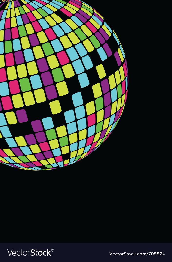 Glowing disco ball vector image
