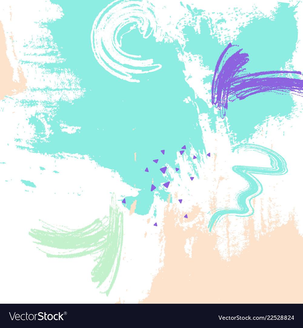 Mint color brush stroke