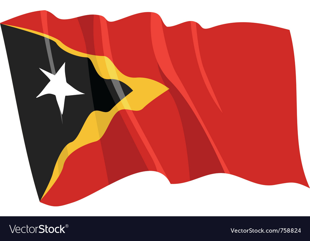 Political waving flag of east timor vector image