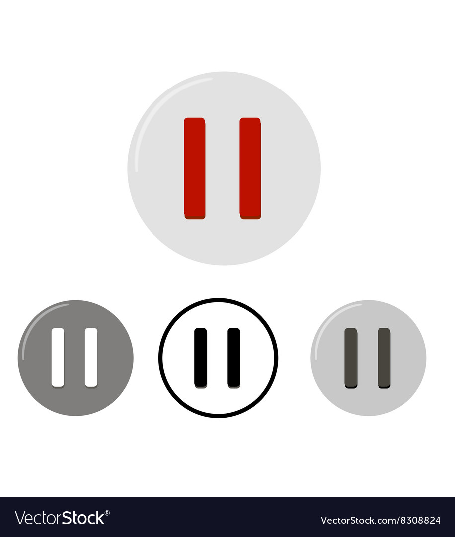 Set of pause buttons