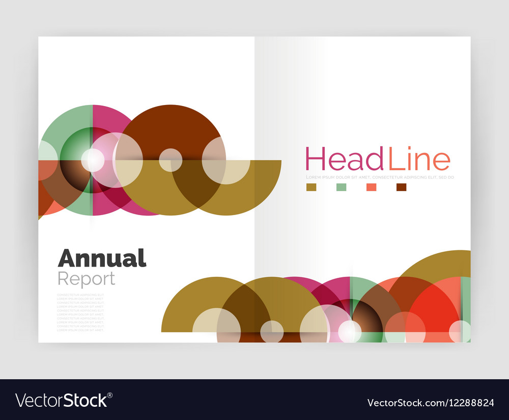 Transparent circle composition on business annual