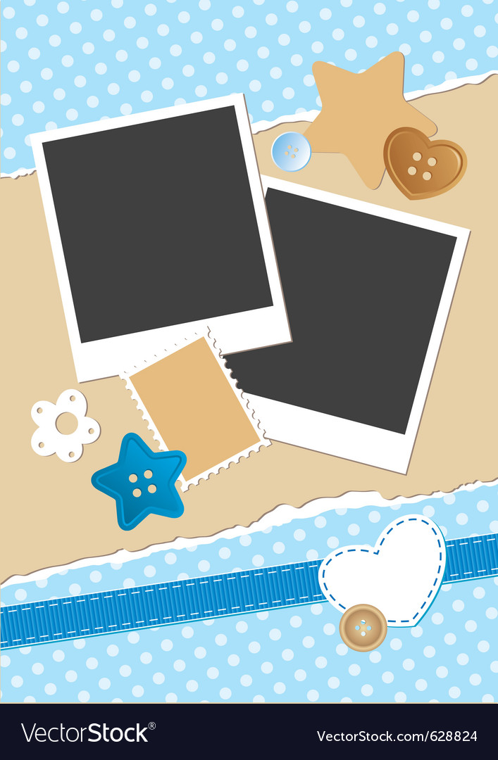Vintage frame for photos vector