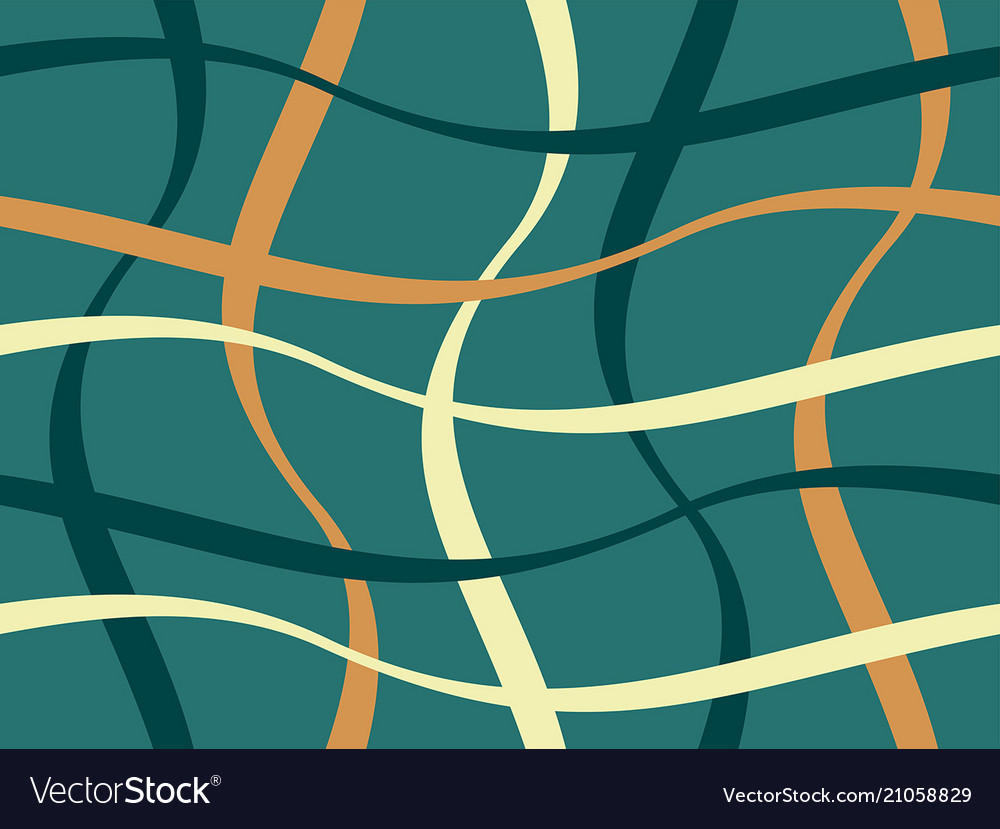 Abstract geometric pattern with figures of wavy li