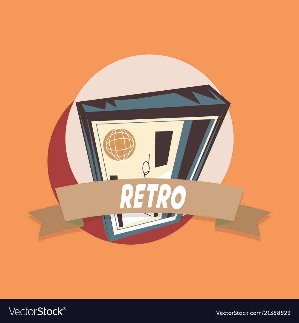 Retro Design Bank.Bank Check Retro Shopping Vintage Label Royalty Free Vector