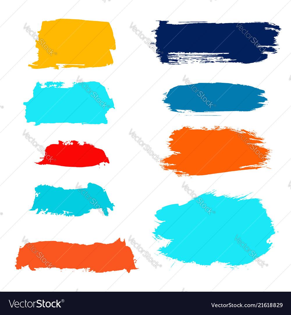 Grunge watercolor ink texture set