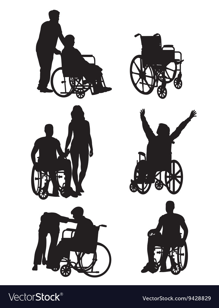 Handicapped and wheelchair Silhouettes