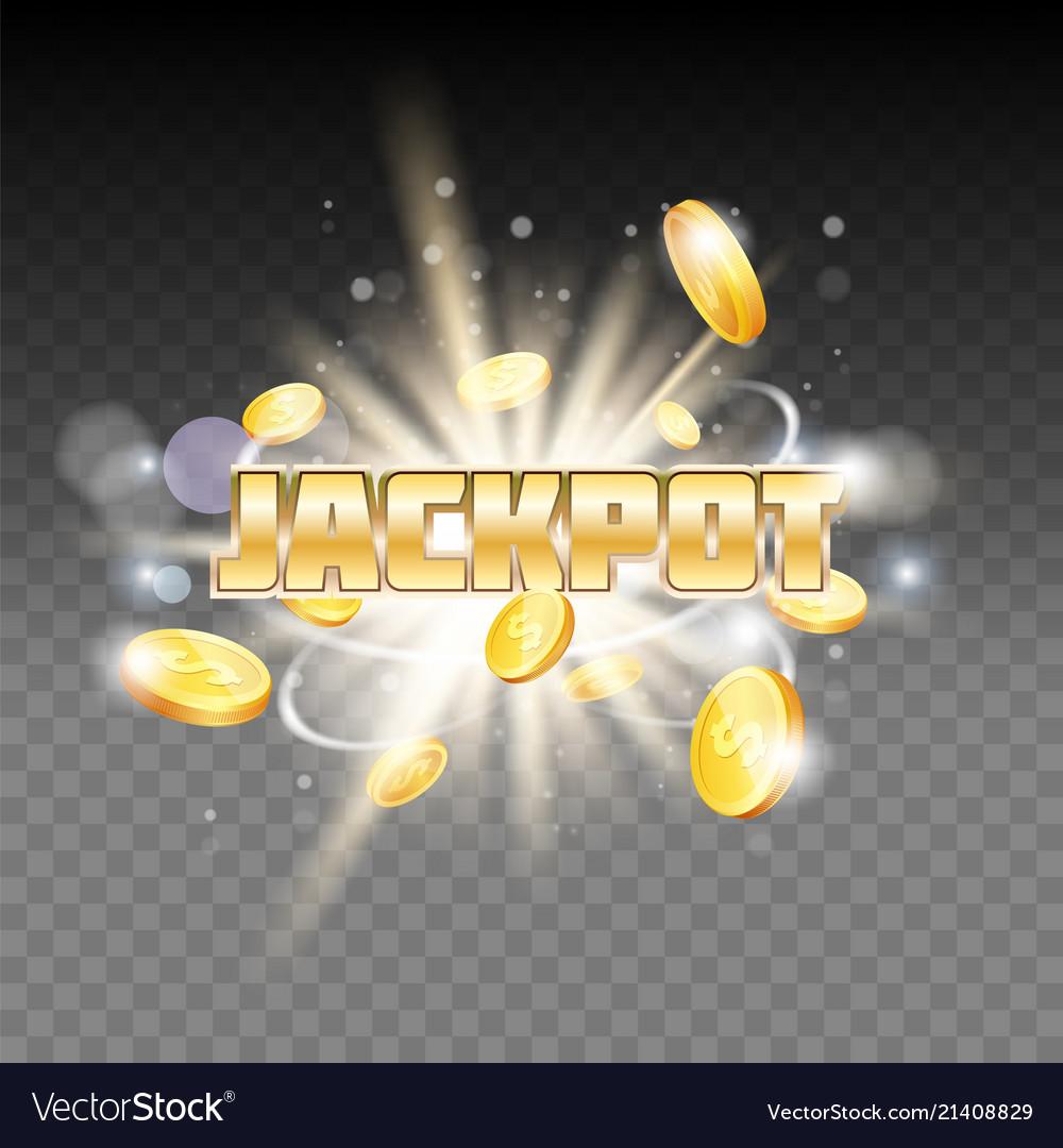 Jackpot gambling poster banner template