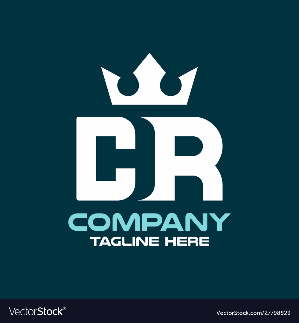 Modern letter cr or rc logo