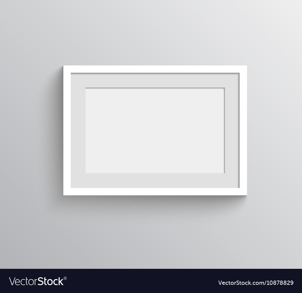 Picture frame for painting show Royalty Free Vector Image