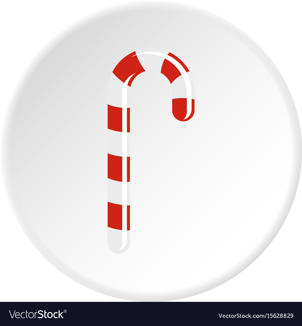 Striped candy cane icon circle