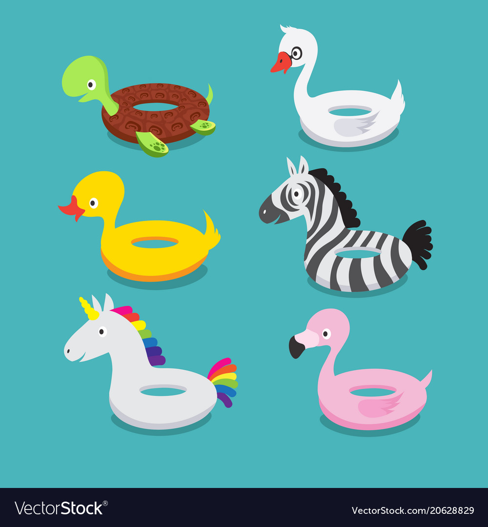 Swimming pool floats inflatable animals flamingo