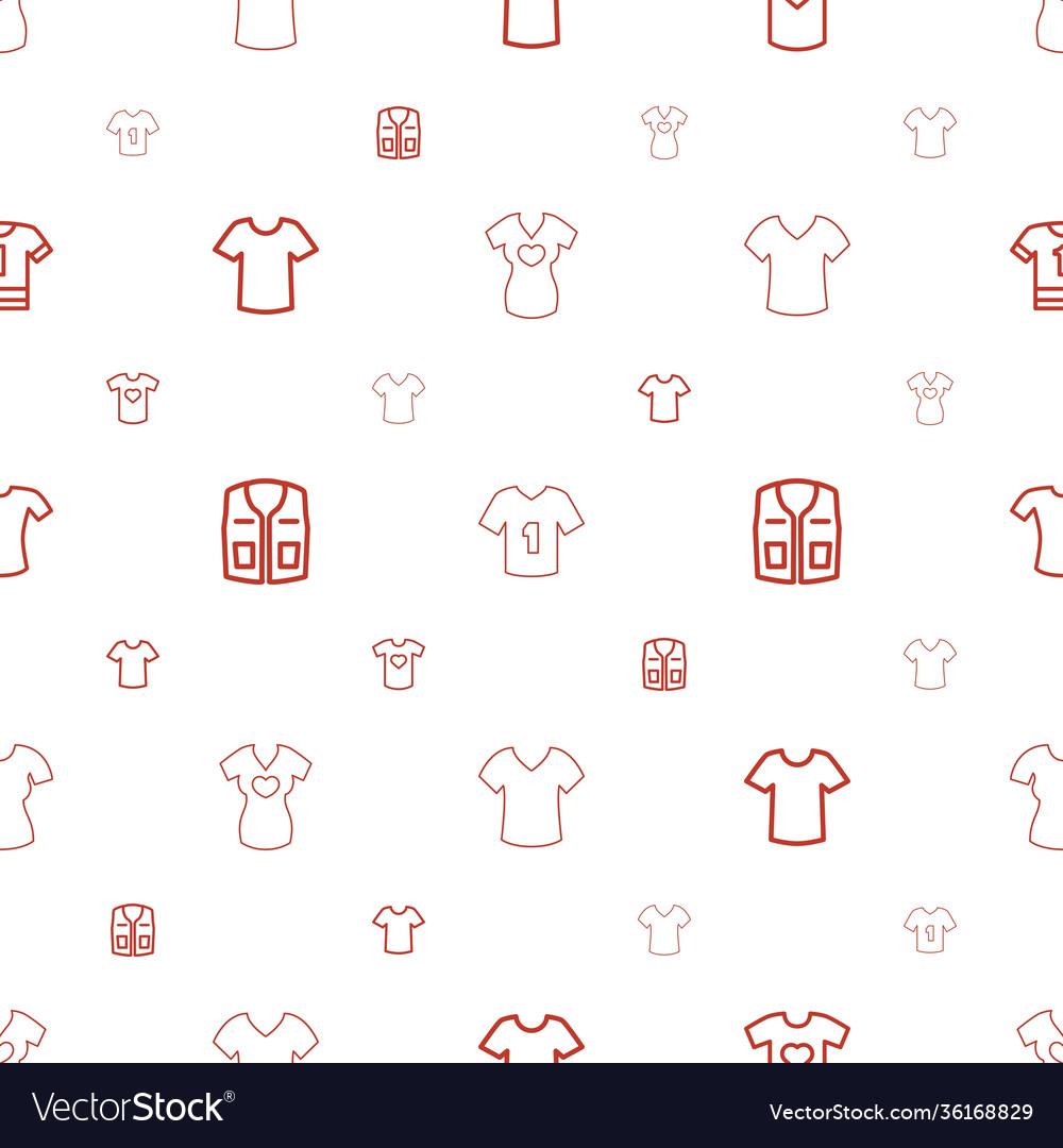 T-shirt icons pattern seamless white background