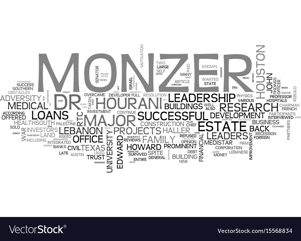 Adversities and leadership profile of monzer