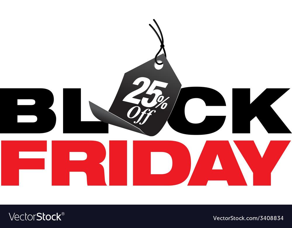 b8efc4cdd2d76 Black Friday 25 Percent Off Sale Royalty Free Vector Image