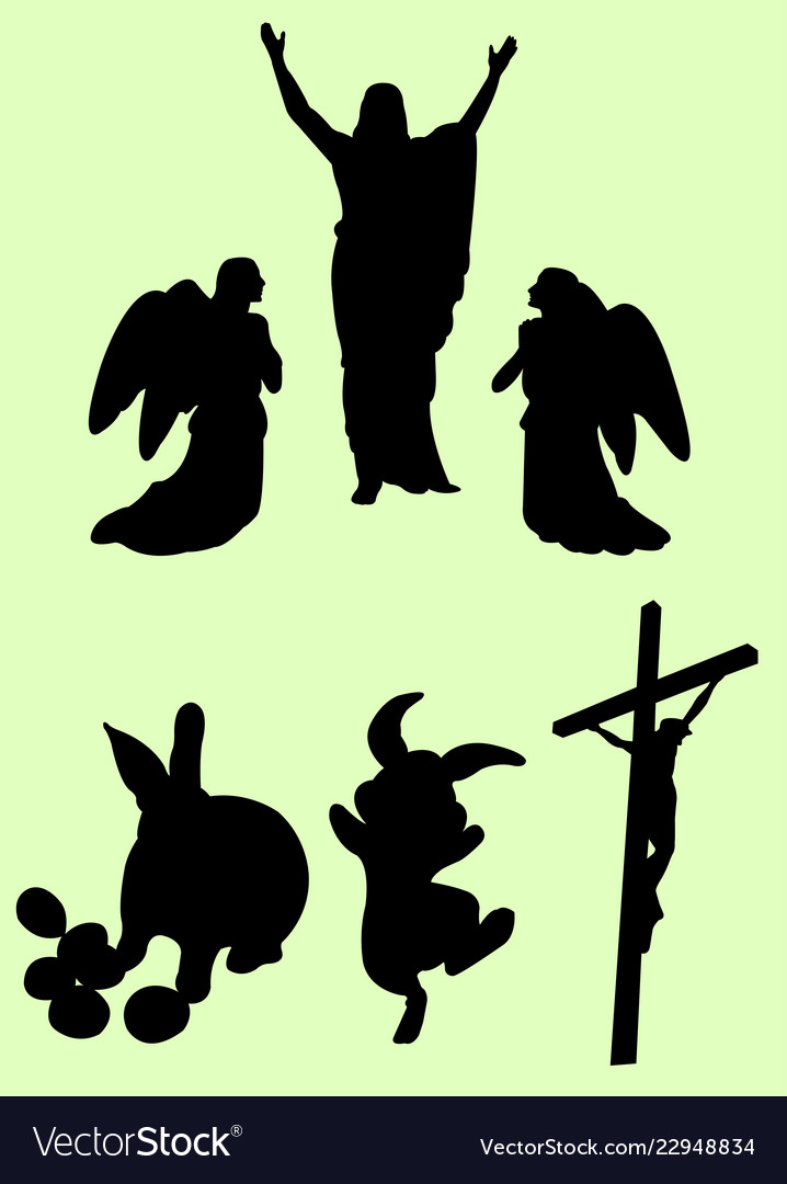Easter event silhouette
