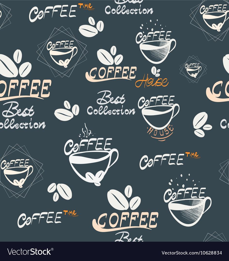 Hand Drawning coffee seamless