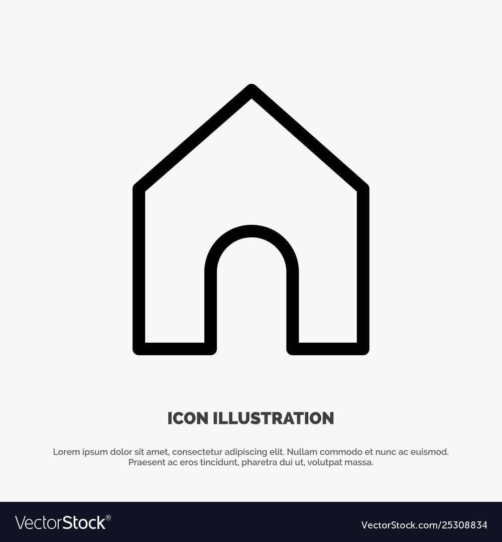Home instagram interface line icon