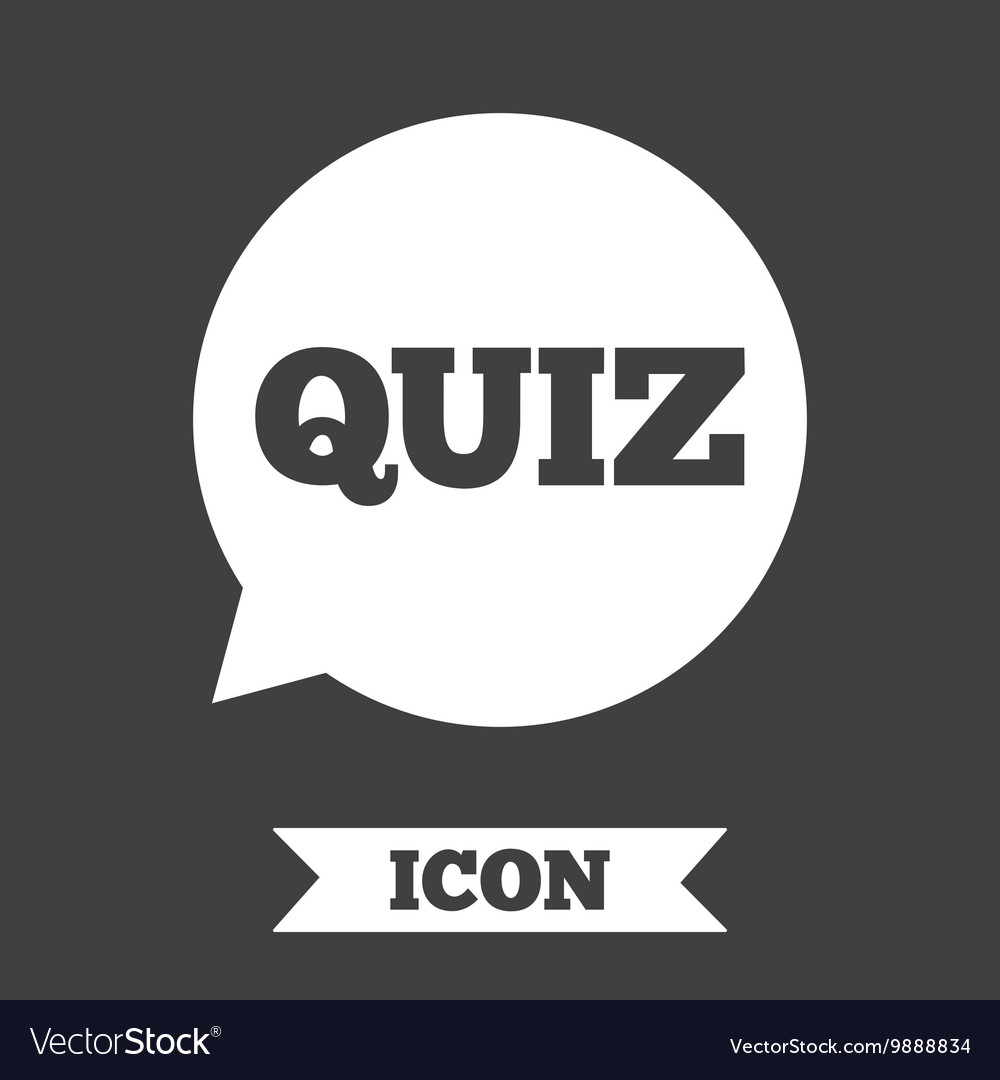 Quiz sign icon Questions and answers game vector image on VectorStock