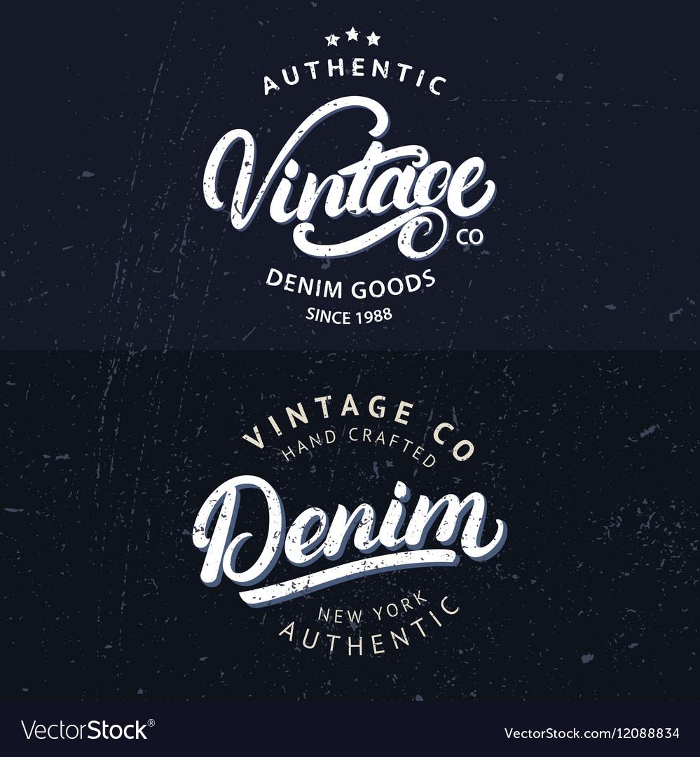 Set of tee prints labels badges