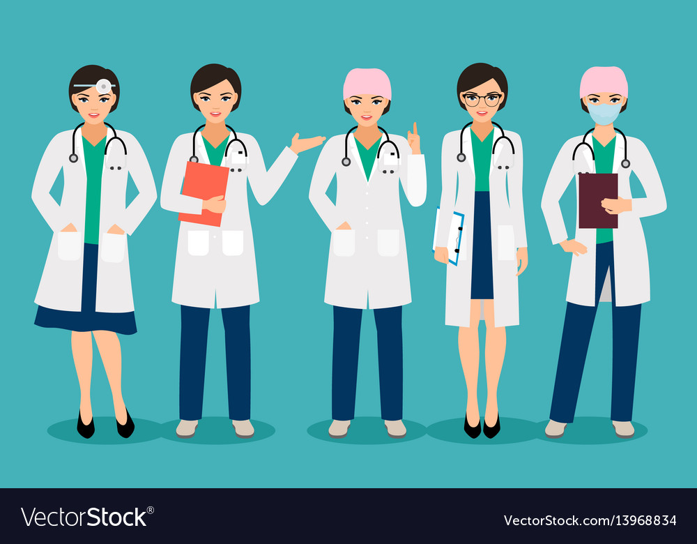 Smiling female doctor vector image