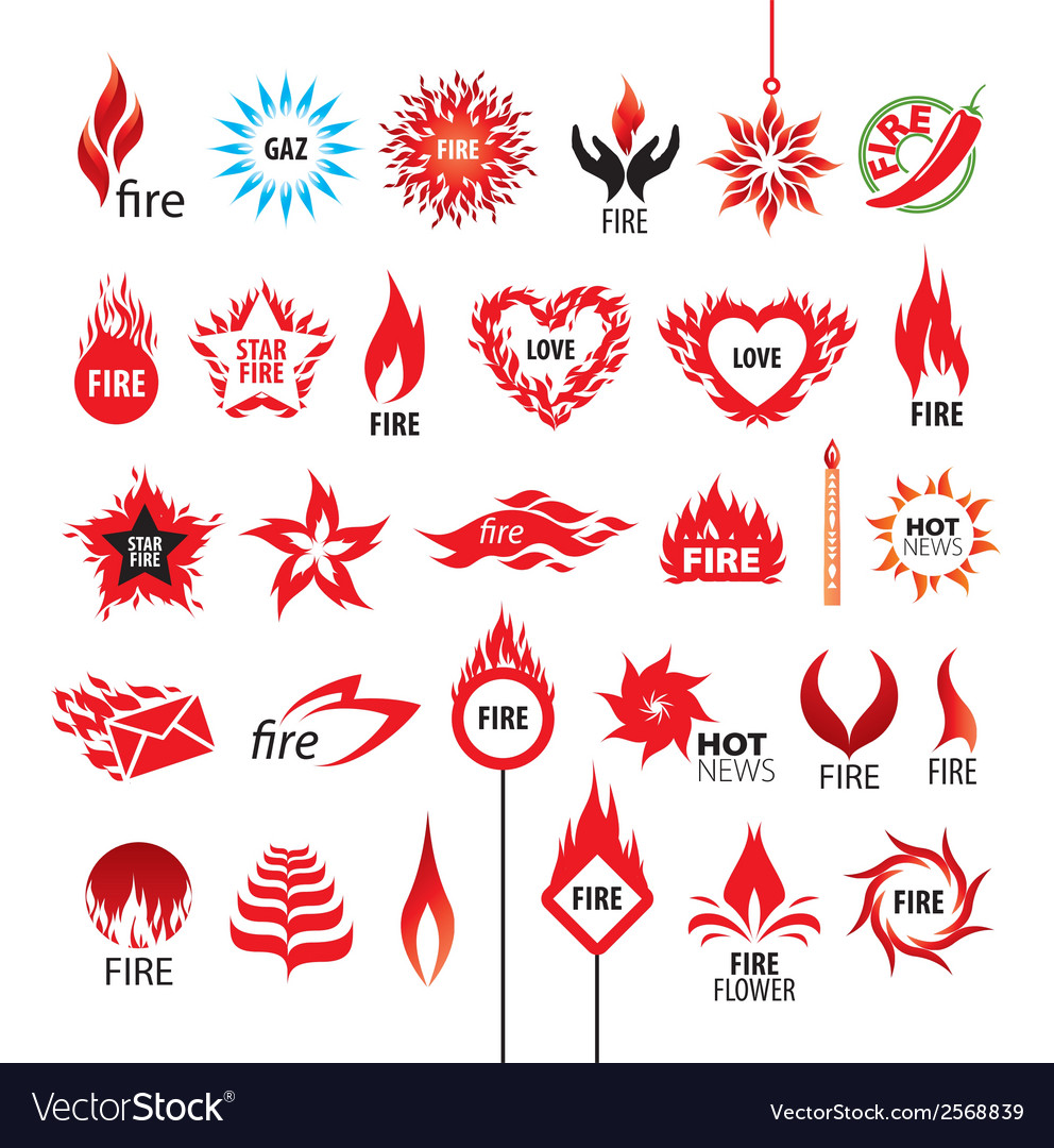 Biggest collection of logos fire and flames