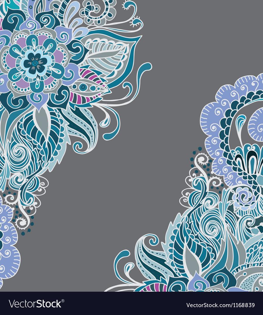 Floral color ornament card