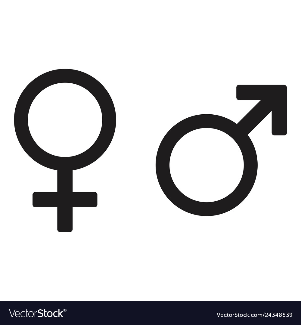Male and female icon design isolated