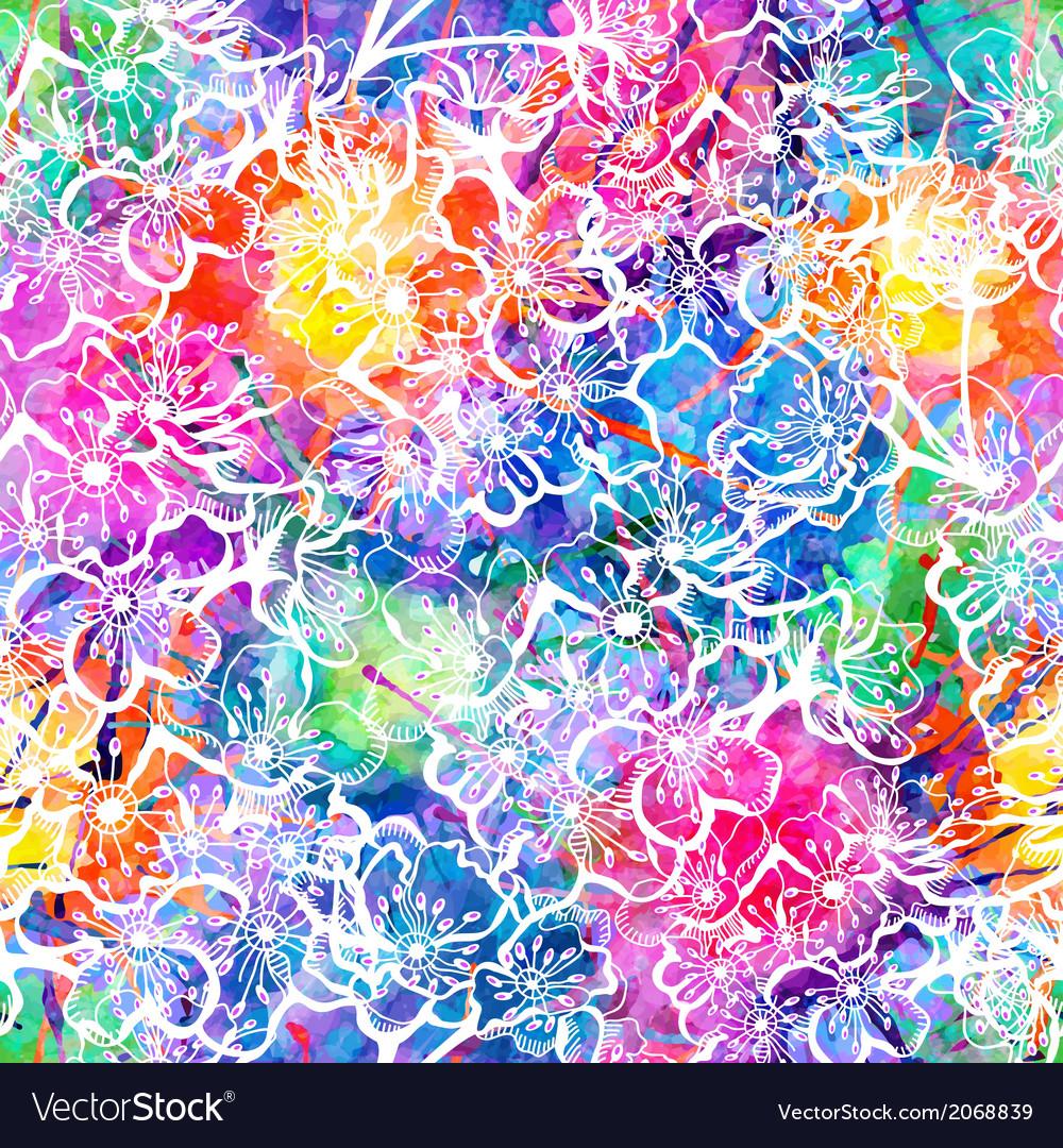 Sakura seamless pattern background EPS10 vector image