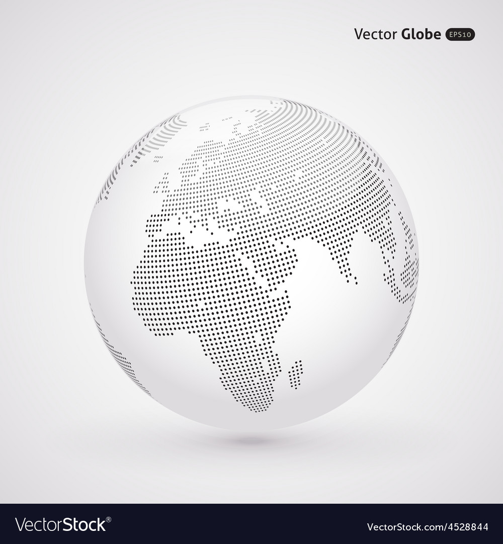 Abstract dotted globe Central heating view on