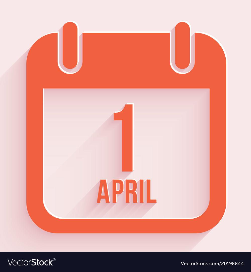 April fools day 1 april calendar background