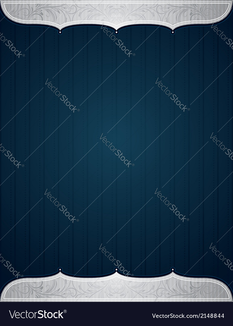 Blue background with decorative elements