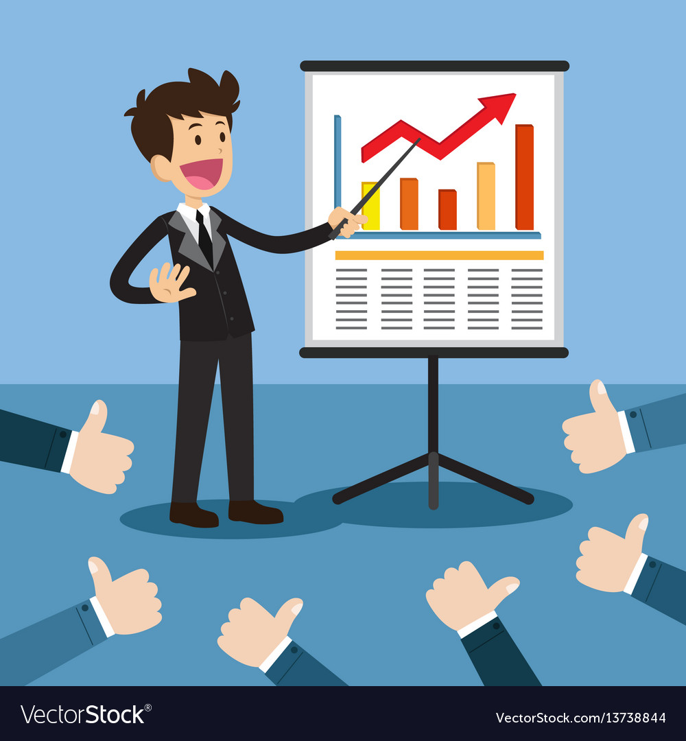 business project presentation royalty free vector image