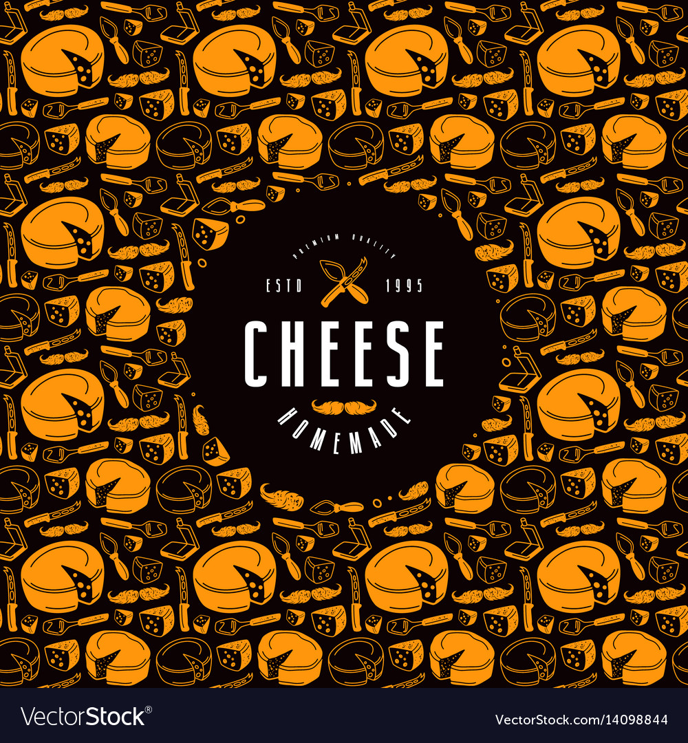 Cheese label and frame with pattern
