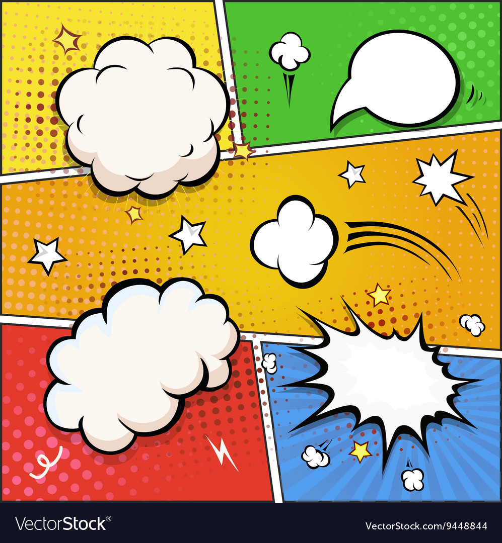Comic Book Speech Bubbles A set of colourful and