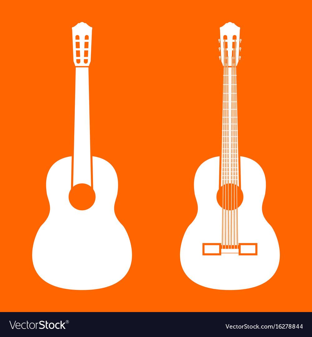 Guitar white icon