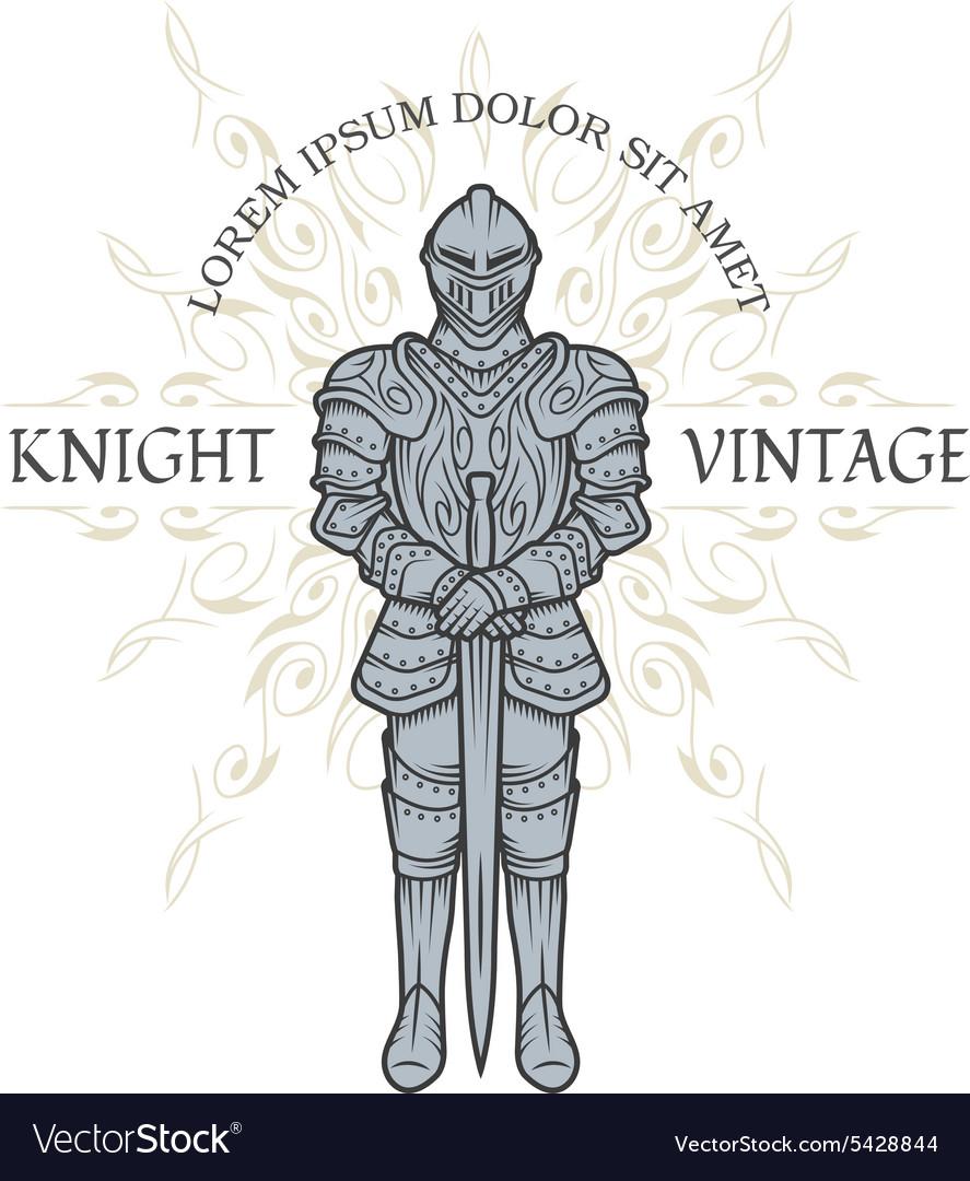 Knight in armor Royalty Free Vector Image - VectorStock