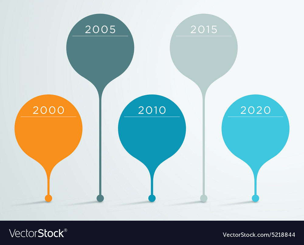 Timeline 10d infographic 10 Royalty Free Vector Image