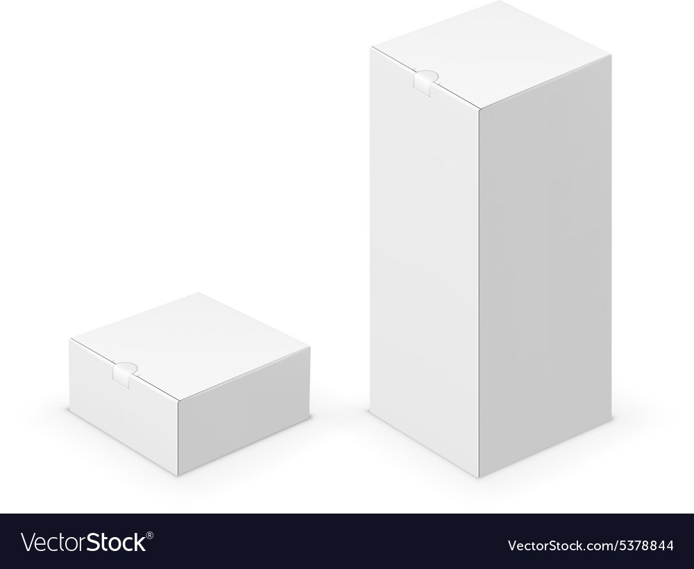 White tall box