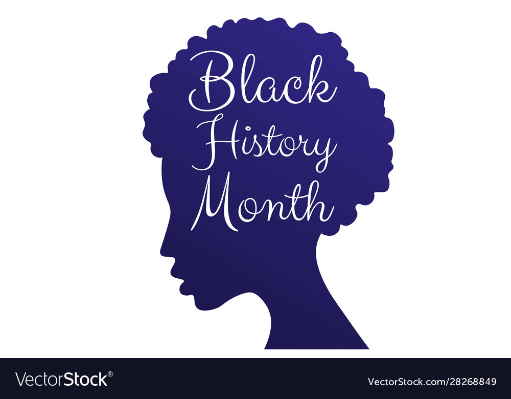 Black History Month Concept With Silhouette Of Vector Image