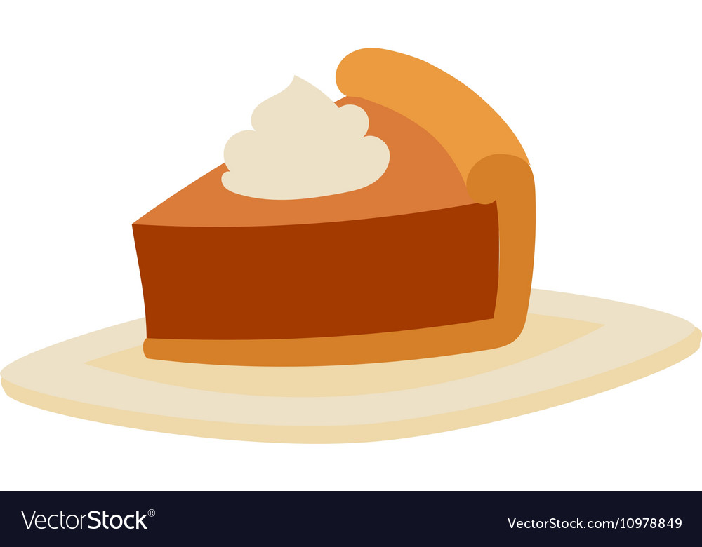 Cake sweet isolated vector image