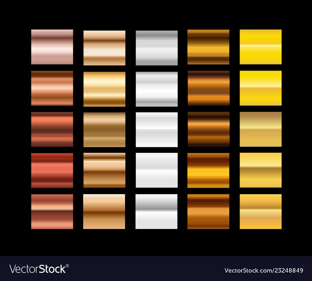 Different metal gradients clip-art