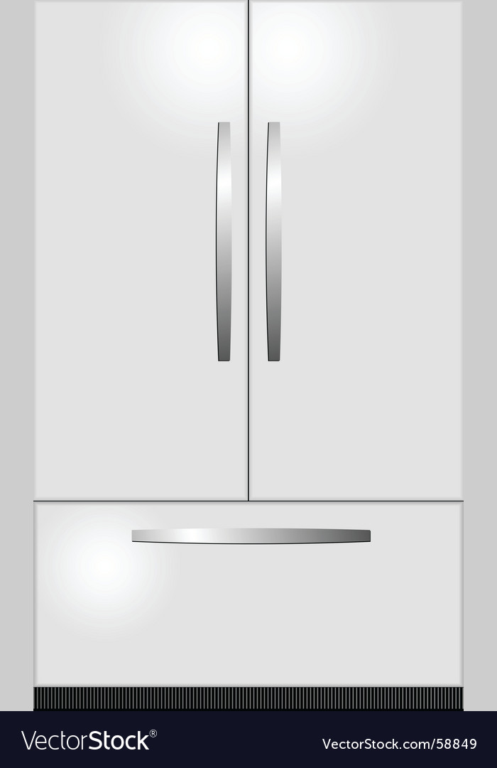 Domestic refrigerator vector image