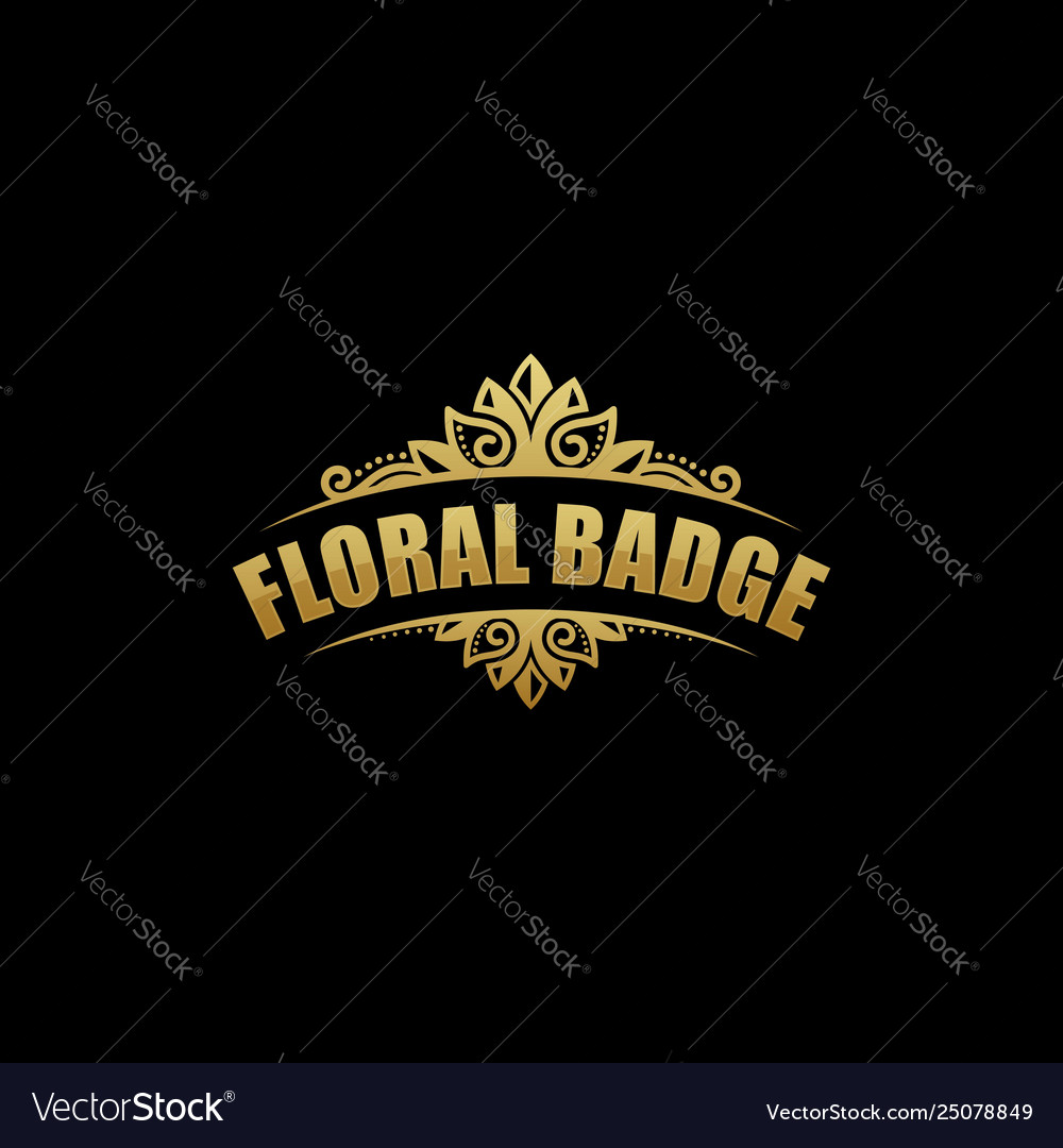 Floral badge template